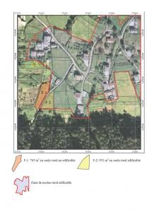 Plano de parcela edificable en Pantín.