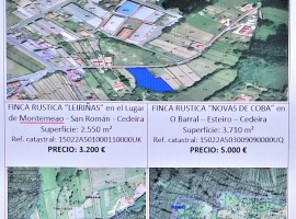 (Español) Venta de 3 fincas rústicas en Cedeira