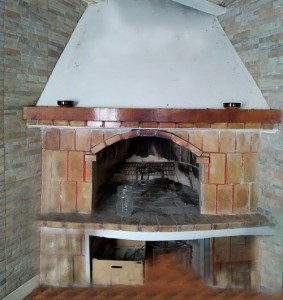chimenea vacía