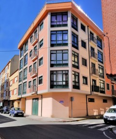 Under the corner of C / As Pontes de García Rodríguez with C / Neda in Cedeira - A Coruña